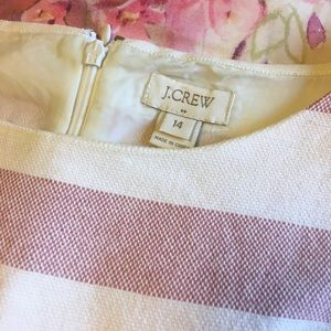 LIKE NEW - J.Crew Pink and White Striped Dress